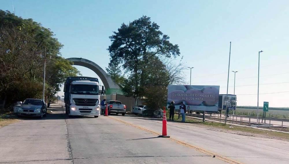 Covid-19 : Se limita el ingresos de camiones en Tucumán