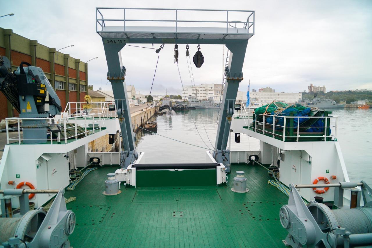 Confiscaron redes ilegales en el mar argentino