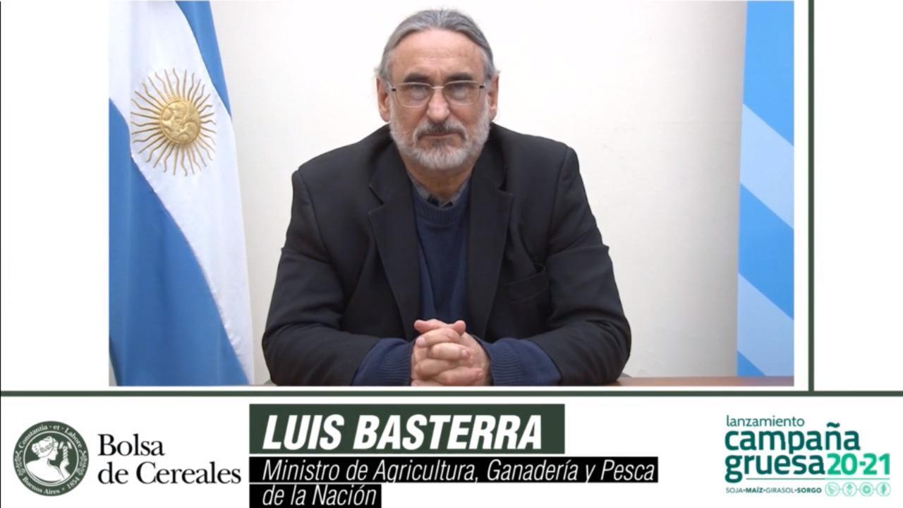 Luis Basterra en el lanzamiento de la Campaña Gruesa 20/21